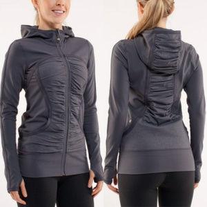 LULULEMON Pure Balance Coal Jacket Zip up Hoodie